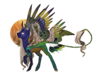[[adoptable]] | [OPEN] | peacock // angel pony [2] by SevenSpirals