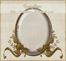 Oval Golden Frame by TootyPups