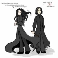 Fanon Snape vs Canon Snape by arabel