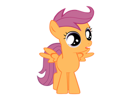 Vector: Scootaloo Surprised by starwarsmike1