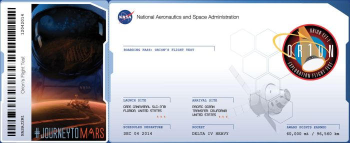 My Boarding Pass for my name to Mars by MotoTsume