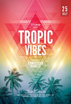 Tropic Vibes Flyer by styleWish