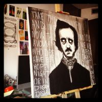 Poe painting by artwarriors