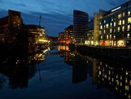 Temple Quay at night by gee231205