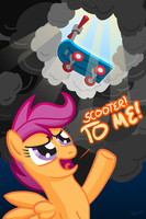 Scootaloo Summons Her Steed by kefkafloyd