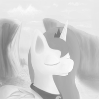 Luna Monochrome painting by Crisp-DA