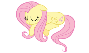 Sleepy Fluttershy Vector by ikillyou121