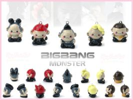 Big Bang MONSTER Charms by FlyingPandaGirl