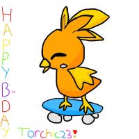 Happy B-Day Torchic23 by sunline