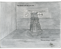 A Dalek goes to the GP by Dogezon