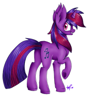 :COMMISSION: Violet Record by ShyShyOctavia