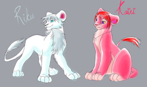 Kairi and Riku Lionking style by Sakuyamon