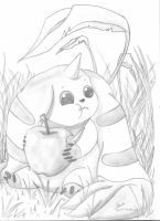 Digimon : Terriermon Eating by Pimander1446