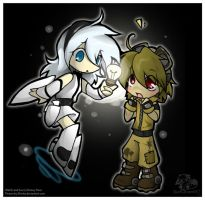 Chibi Eve and Wall-E by Shivita