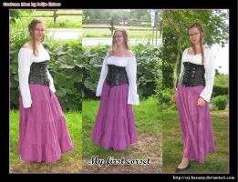 My first corset - collage - by LadyRafira