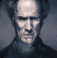 clint eastwood by yudough