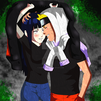 -.NaruHina ~ Love under the rain.- by XJose-chanX