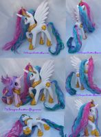 Custom White Princess Celestia My Little Pony G4 by mayanbutterfly
