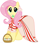 MLP: Fluttershy in Peppermint Dress by giantsquidie