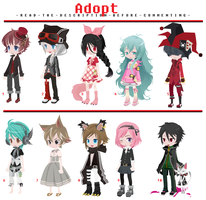 FREE Adoptables - Set 5 [CLOSED] by ReddAdopts