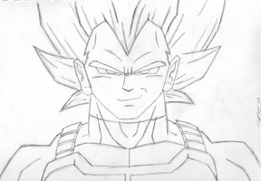 Vegeta Pencils by JediKaputski