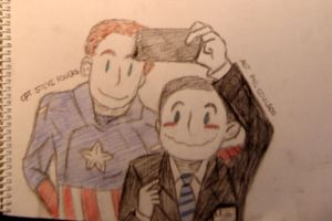 Captain America and Agent Phil Coulson by marlotje