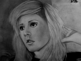 Ellie Goulding: portrait by DeadlyAngel-Drawings