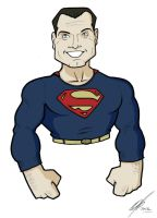 Superman George Reeves full color by Kryptoniano
