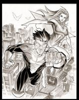 Invincible and Atom Eve by manapul