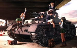 Realistic Girls und Panzer by pwnagepancakes