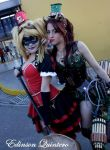 harley and poison ivy steampunk by laurakyonlee