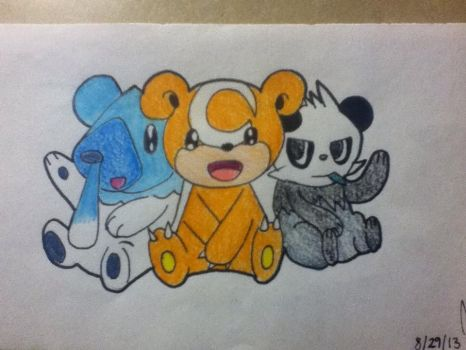 Pokemon Bears by Gintoshika