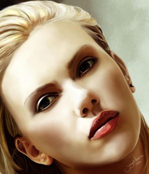Scarlett Johansson face by r3cycled