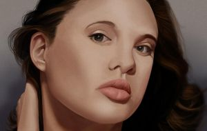 Angelina Jolie Portrait by Chachava