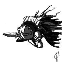 Metaknight doodle by MagicalMeepo