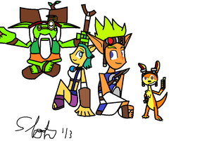 Jak and Friends by SloththeChaos666