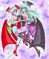 Morrigan and Lilith by ClaraKerber