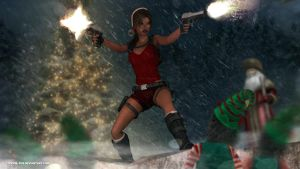Lara croft and The christmas spirit by doppeL-zgz