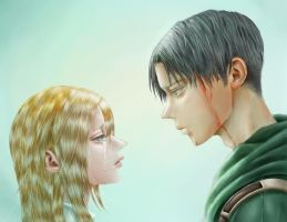Levi and Historia by 7Qo