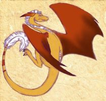 Copper Colored Dragon by Hobbes918