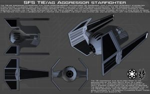 TIE/ag Aggressor starfighter ortho [New] by unusualsuspex
