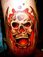 skull tattoo2 by Toast79