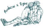 mordecai x rigby rough draft by conoy17