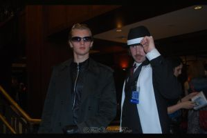 Wesker and Leon. by FallMoonlitRose