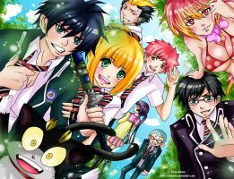 Ao No Exorcist: Happy times by ravenanne