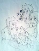Tsuna and friends by TheROOkieDrawer