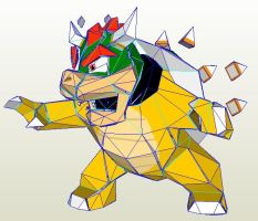 Bowser papercraft by nin-mario64