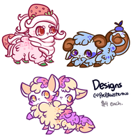 :Quick Dessert Sheeps DEsigns for Sale($3 each): by PrePAWSterous