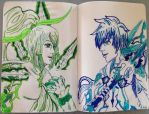Inktober #1~ Sorey and Rose Kamui by n-trace