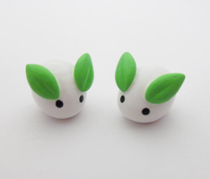 Miniature Mochi Bunnies by MariposaMiniatures